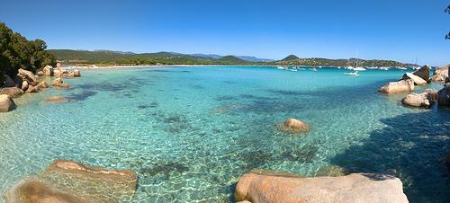 La plage de Santa Giulia Corse du Sud